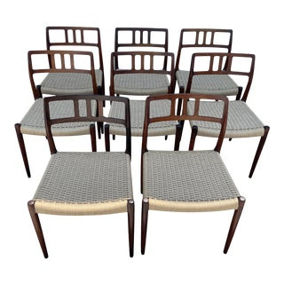Niels Moller Rosewood Dining Chairs Model 79 Set of 8 For Sale