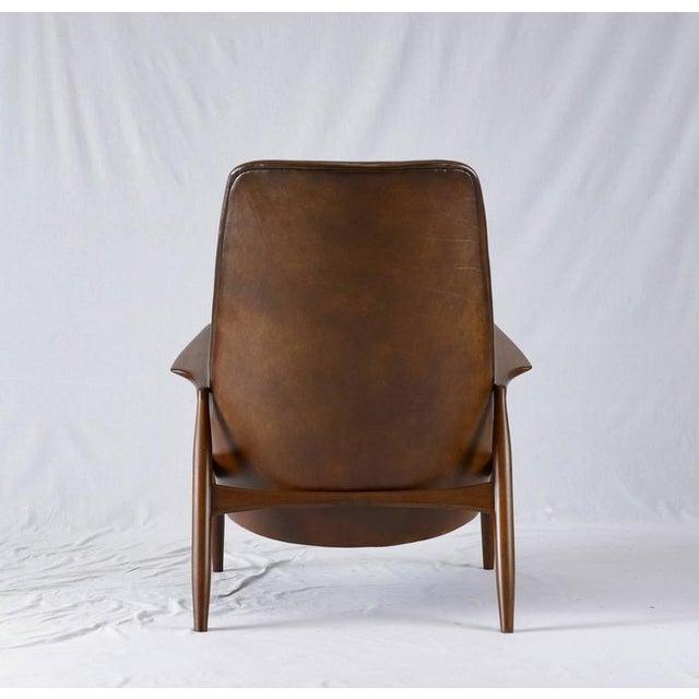 "Brown Ib Kofod-Larsen High Back ""Seal"" Chair For Sale - Image 8 of 10"