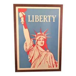 1980s Statute of Liberty Pop Art Style Poster, Framed For Sale