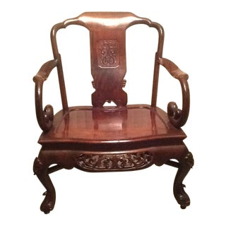 Late 19th Century Vintage Huanghuali Chair For Sale