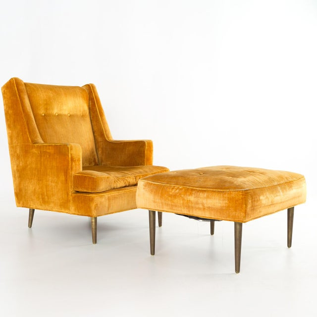 Mid Century Edward Wormley for Dunbar Chair and Ottoman For Sale - Image 13 of 13