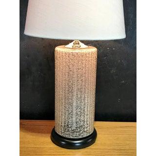 Massive Pair of Venini Murano White Pulegoso Glass Column Lamps Preview