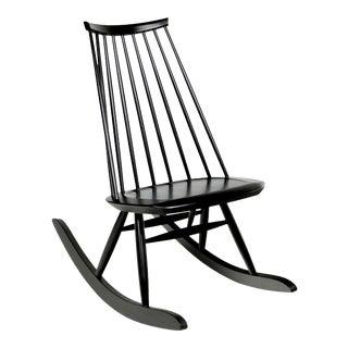 Mademoiselle Rocking Chair in Black by Ilmari Tapiovaara & Artek For Sale