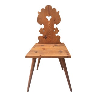 Wood Carved Alsatian Chair
