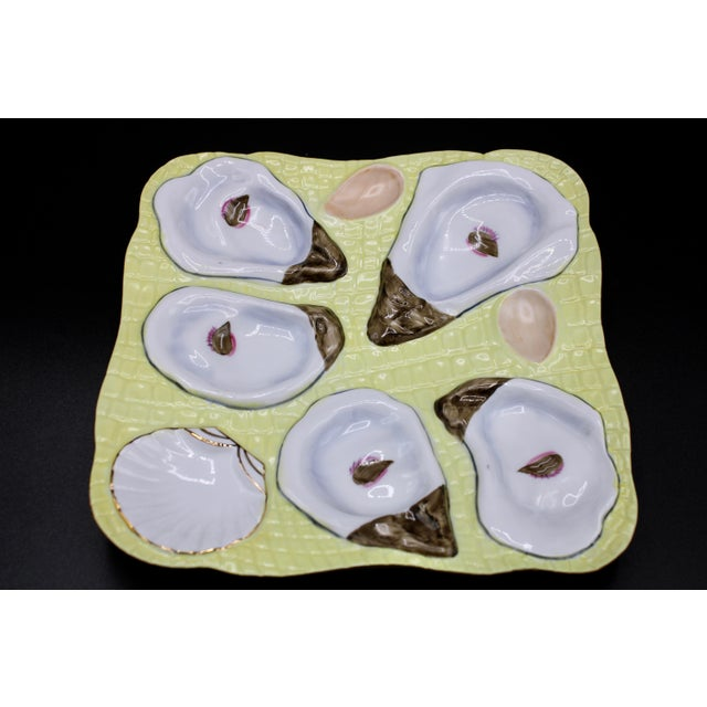 Coastal 1960s Canary Yellow Oyster Plate For Sale - Image 3 of 11