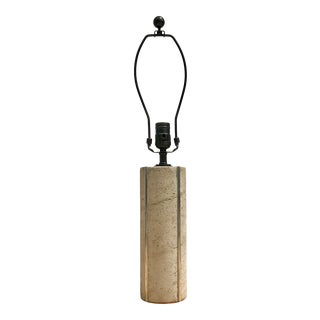 Modern Doric Cement Table Lamp For Sale