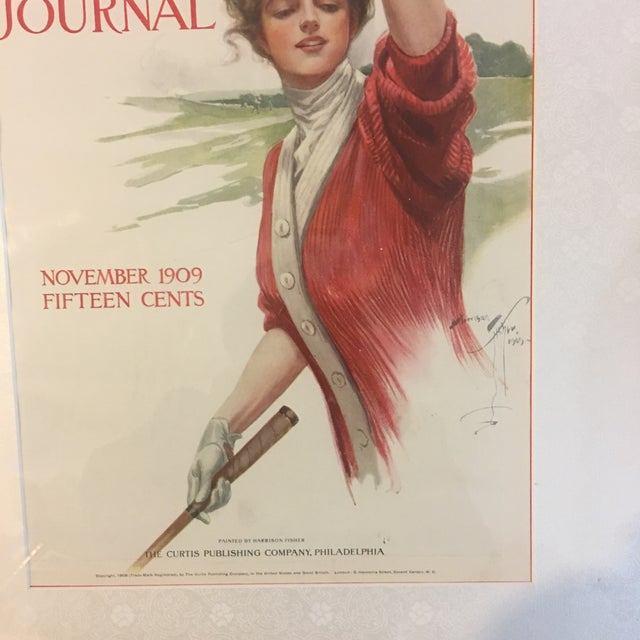 1900 - 1909 1909 Vintage Harrison Fisher Ladies Home Journal Cover Print For Sale - Image 5 of 10