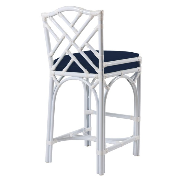 Classic silhouettes are transformed into outdoor luxury in the Chippendale Outdoor Barstool. Featuring high temperature...