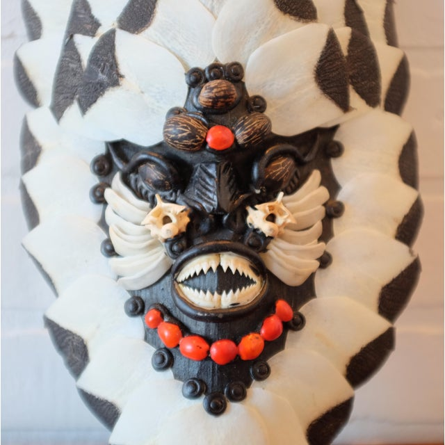 Primitive Brazilian Tribal Piranha Teeth & Fish Scale Mask For Sale - Image 3 of 4