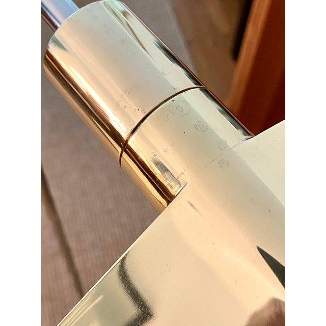 Cedric Hartman Brass / Stainless Steel Height Adjustable / Swivel Floor Lamps - Set of 2 For Sale In Atlanta - Image 6 of 13