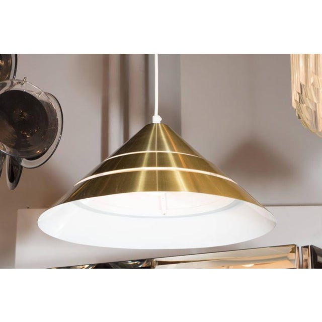 1960s Mid-Century Brass Cone Ceiling Pendant by Hans-Agne Jakobsson For Sale - Image 5 of 8