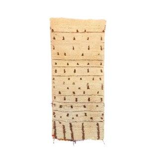 "Azilal Vintage Moroccan Rug, 2'4"" X 6'3"" Feet"