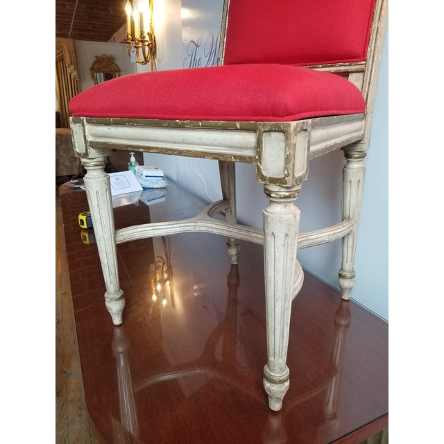 Textile 1980s French Provincial Side Chair For Sale - Image 7 of 8