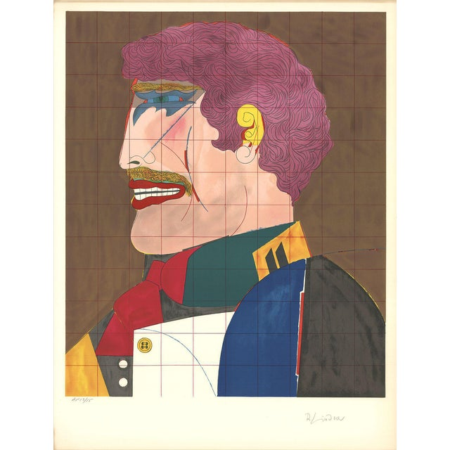 1969 Richard Lindner Profile Lithograph - Image 1 of 2