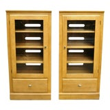 Image of Ethan Allen Elements Maple Bookcase-a Pair For Sale