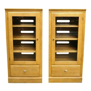 Ethan Allen Elements Maple Bookcase-a Pair For Sale