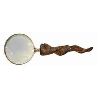 Carved Horn Magnifying Glass For Sale