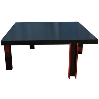 Memphis Style Ebonized Coffee Table For Sale