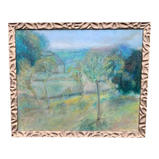 Mid 20th Century Oil on Canvas Landscape Painting For Sale