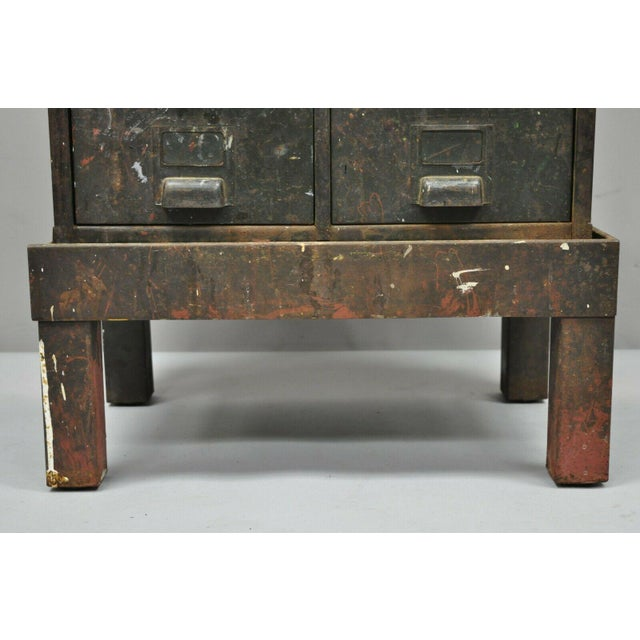 Green Antique Industrial Cabinet For Sale - Image 8 of 11