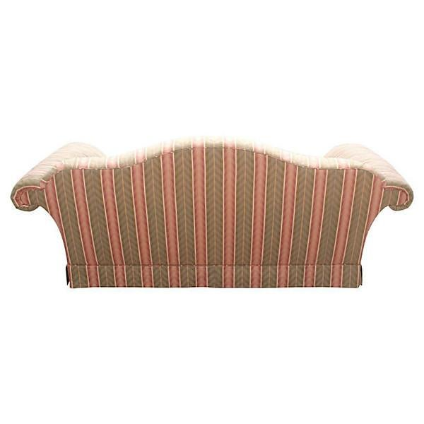 Baker Camel-Back Upholstered Sofa - Image 2 of 7
