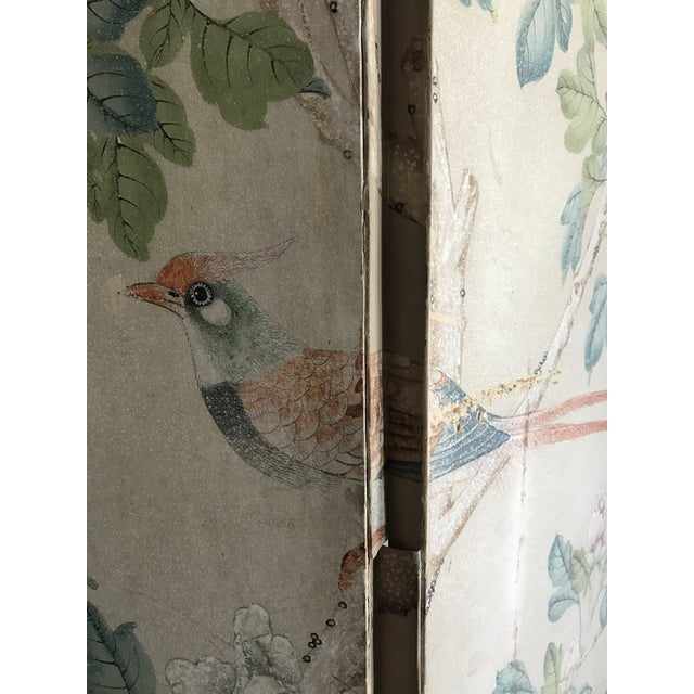 Gracie Chinoiserie 4 Panel Wallpaper Screen - Image 6 of 11