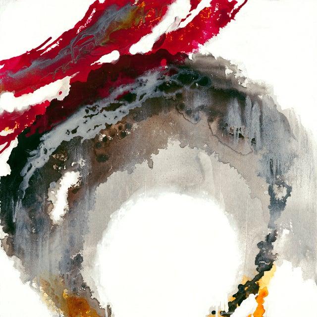 "Liz Jardine Painting ""Liquid Crimson"" - Image 1 of 2"