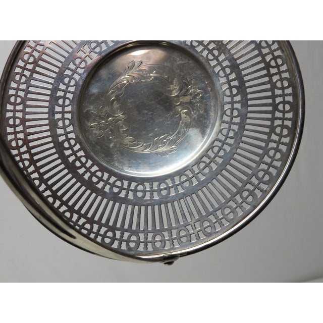 Engraving Antique Sterling Silver Mint - Candy Serving Basket For Sale - Image 7 of 12