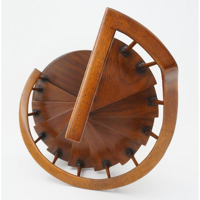 Brown Vintage Spiral Staircase Architectural Model in Mahogany For Sale - Image 8 of 12