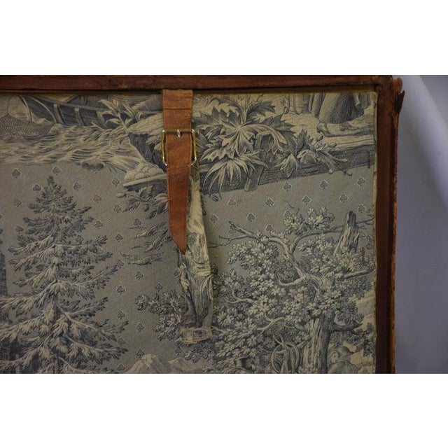 Antique Travel Dome Trunk For Sale - Image 11 of 13