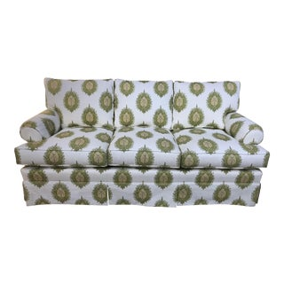 Modern Upholstered Ikat Print Sofa by Century Furniture For Sale