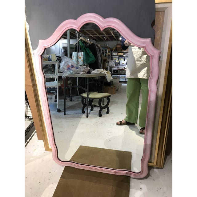 French John Widdicomb Painted Pink Mirror For Sale - Image 3 of 12