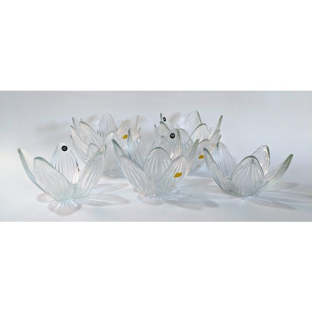 Set of 10 Rosenthal Studio Line Bleikristall German Glass bowls. Whimsical design would be a great addition to any dinner...