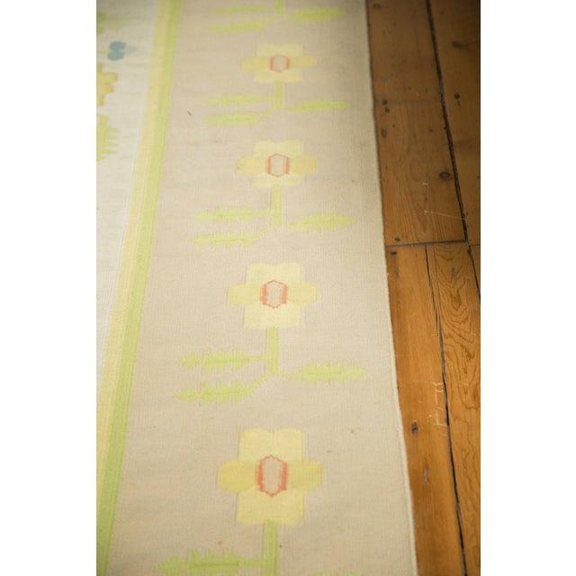 """Vintage Minimalist Dhurrie Carpet - 8'9"""" X 11'10"""" - Image 7 of 10"""