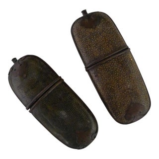 Antique Chinese Shagreen Eyeglass Cases - a Pair For Sale