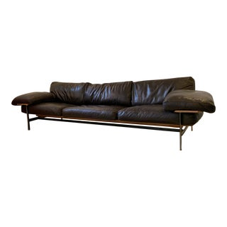 1970s Vintage Antonio Citterio and Paolo Nava for B & B Italia Diesis Leather Sofa For Sale