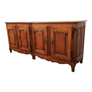 FOUR DOOR FRENCH FRUITWOOD BUFFET For Sale