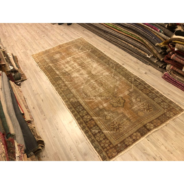 Textile Turkish Anatolian Handmade Oushak Rug For Sale - Image 7 of 11