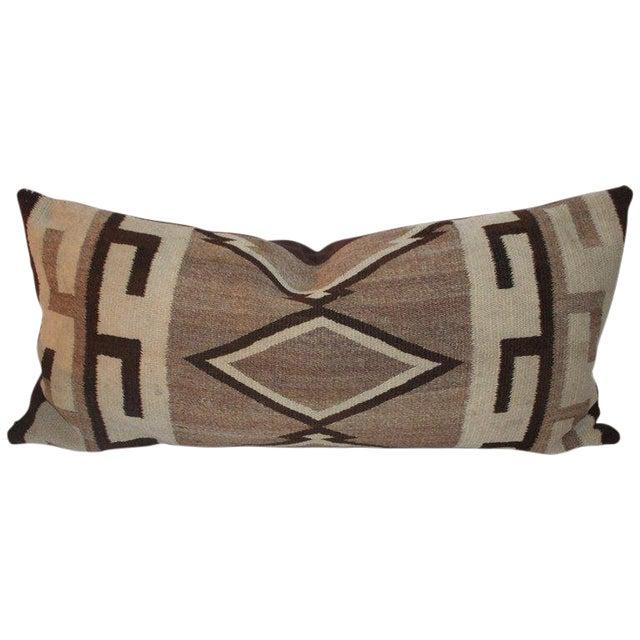 Navajo Indian Weaving Diamond Bolster Pillow For Sale
