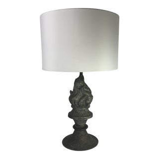 French Zinc Table Lamp For Sale