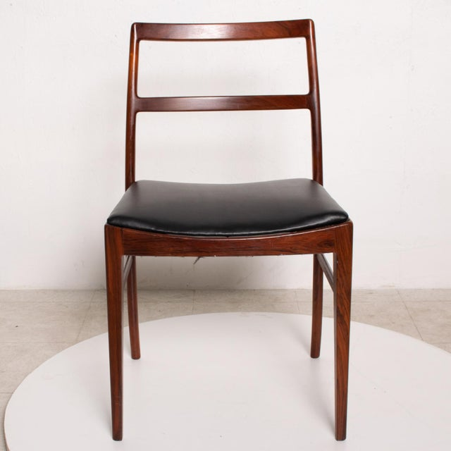 Mid-Century Modern Mid Century Danish Modern Set of 6 Dining Chairs by Arne Vodder for Sibast 430 For Sale - Image 3 of 11