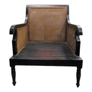 Idyllwild Canned and Wood Accent Side Chair For Sale