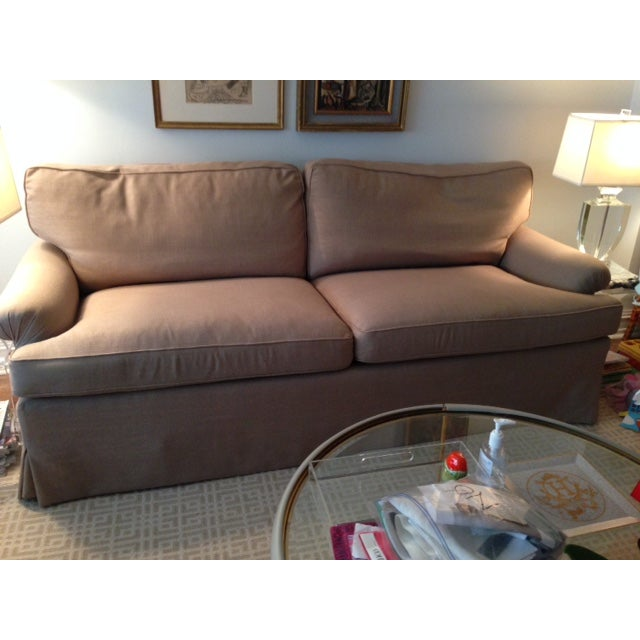 Newly Reupholstered Linen Sofa - Image 3 of 7