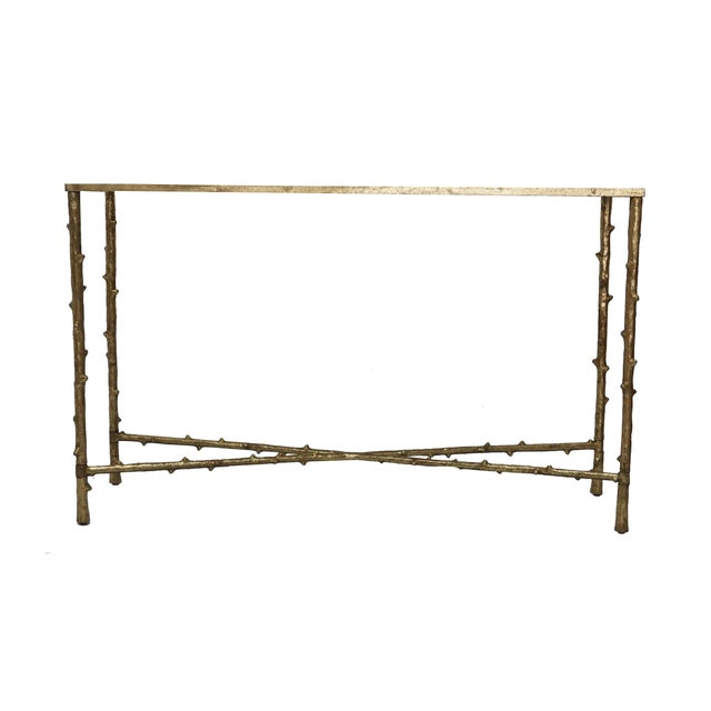 Glostrup Metal Entryway Console Table With Mirror Top - Image 5 of 7