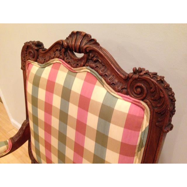 French 18th CenturyAntique French Louis XV Fauteuil Arm Chair For Sale - Image 3 of 13