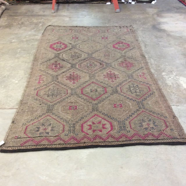 "1860's Turkish Sumac- 4'6""x8'5"" For Sale - Image 4 of 13"