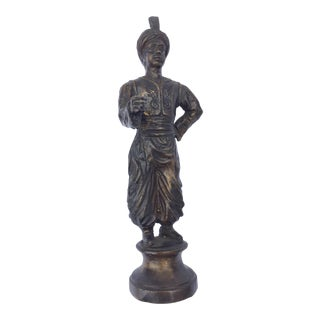 Orientalist Patinated Bronze Figure of a Turkish Young Man
