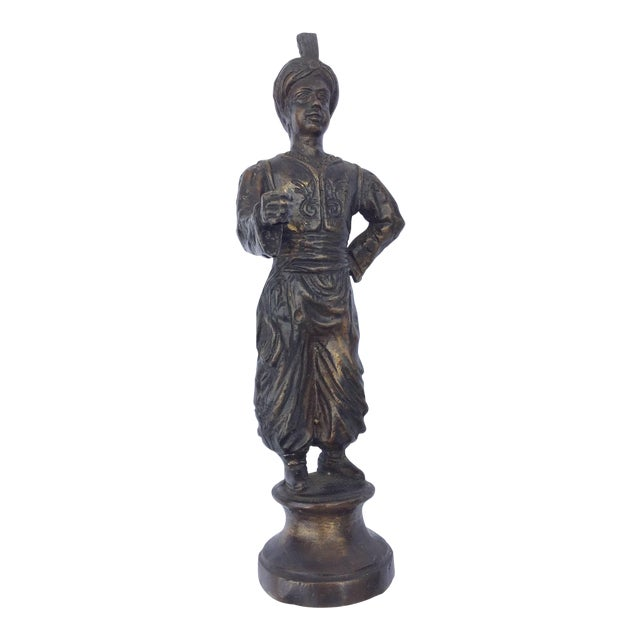 Orientalist Patinated Bronze Figure of a Turkish Young Man For Sale