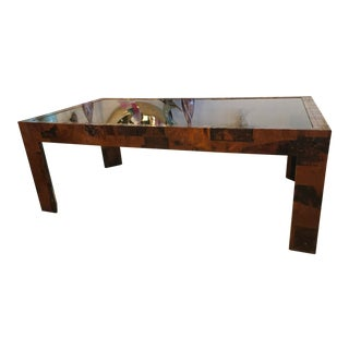 Vintage Brutalist Metal Patchwork Dining Table For Sale