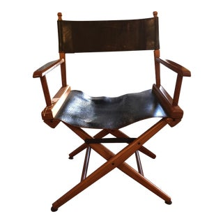 Leather Folding Campaign Chair